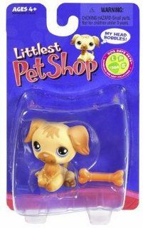 Littlest Pet Shop LPS #286 Golden Retriever W Bone Single