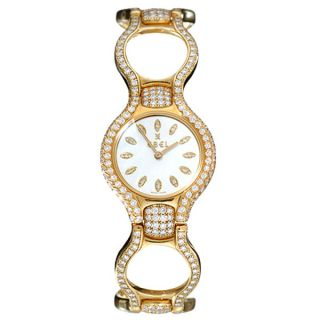 Ebel Beluga Womens 18k Gold Diamond Watch