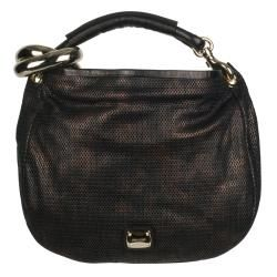 Jimmy Choo Brown Textured Leather Hobo Bag