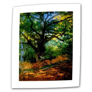 Claude Monet Bodmer Oak at Fountainbleau Forest Flat Canvas