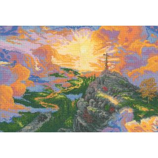 Thomas Kinkade The Cross Counted Cross Stitch Kit 16X11 16 Count