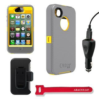Otterbox Defender Apple iPhone 4/4S Protector Case with Car Charger