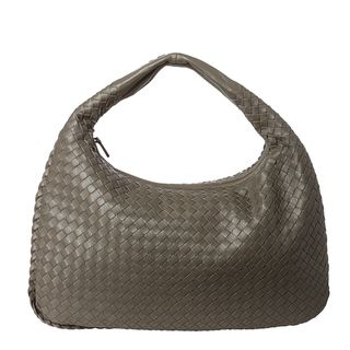 Bottega Veneta Dark Grey Intrecciato Nappa Leather Hobo Bag