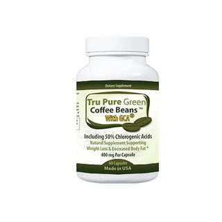 Pure Green Coffee Bean Extract 400mg with GCA Antioxidant (60 Capsules