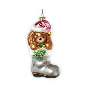 Precious Moments Christmas Ornament Puppy Dog In Boot