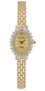 Lucien Piccard Angel Star 14k Gold Diamond Watch