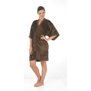 Canyon Rose Cloud 9 Plush Microfiber Womens Short Sleeve Robe
