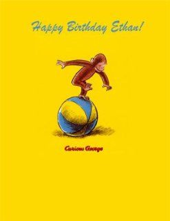 Personalized Curious George Edible Cake Image Birthday