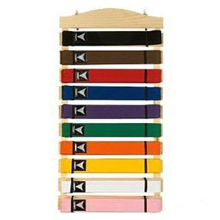 Ten Level Martial Arts Karate Belt Display