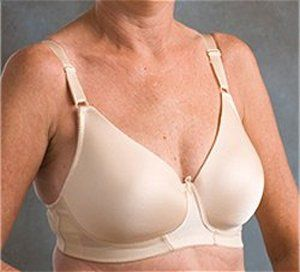 Molded Cup Mastectomy Bras, Model 510, Beige   Size 38D