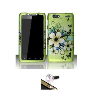 Motorola Droid Razr Maxx Hawaii Flower Protector Case with Charm Plug
