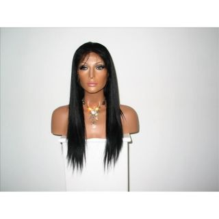 Star Flow Black/ Brown 18 inch Human Hair Wig