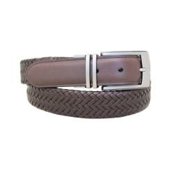 Entourage Good Vibe Reversible Braided Leather Belt