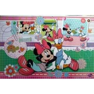 WM 579 Minnie Mouse and Daisy Duck Disney Cartoon Animation Wall