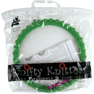 Provo Craft Knifty Knitter Green Large Round Loom Set