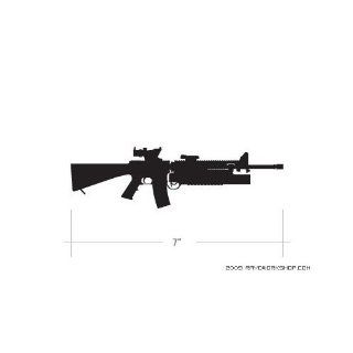 (2x) 5 M16 with M203 SpecOps Logo Sticker Vinyl Decals
