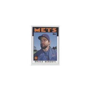 Berenyi New York Mets (Baseball Card) 1986 Topps #339 Collectibles