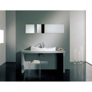 Scarabeo Tsunami 90/R White Bathroom Sink