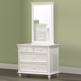 Fantasia White Dresser and Mirror