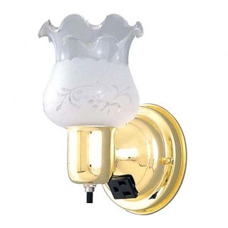 Transitional 1 light Polished Brass Wall Sconce Today $17.95 Sale $