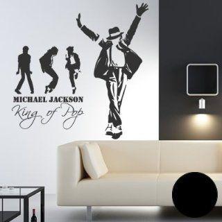 A440 Wandtattoo Michael Jackson Stationen   History 115cm x 115cm
