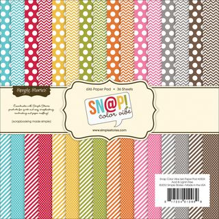 Sn@p! Color Vibe Collection Paper Pad 6X6 36 Sheets