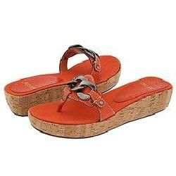 Nicole Malissa Burnt Orange Sandals