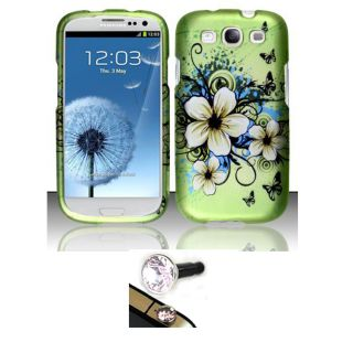 Premium Samsung Galaxy S3 Hawaii Flower Protector Case with Charm Plug
