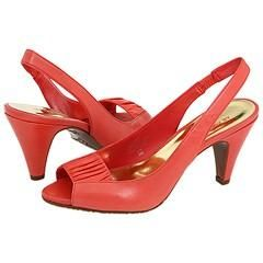 AK Anne Klein Sari Coral Leather Pumps/Heels