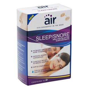Air Sleep/Snore Drug free Nasal Breathing Aid (Pack of 12)