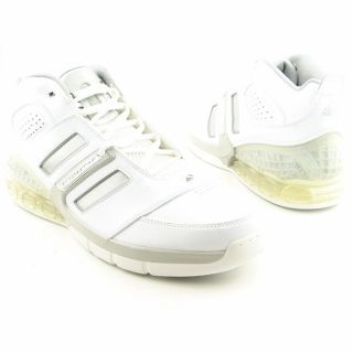 Adidas Mens Bounce Artillery II White Basketball Shoes