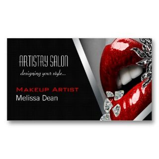 Makeup Artist Salon Business Card by HauteBusinessCards