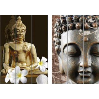 RETROSTYEL Paravent Buddha Lounge 120x180 cm retro Design neu OVP