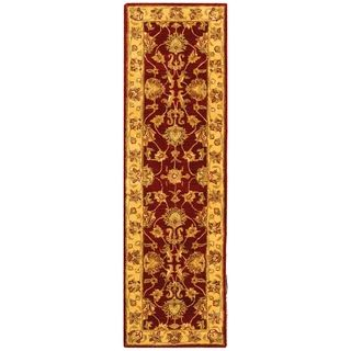 Handmade Heritage Kerman Red/ Gold Wool Runner (23 x 8)