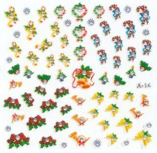 Nailart Sticker Weihnachten X14   1 Bogen Weihnachtsbilder für die