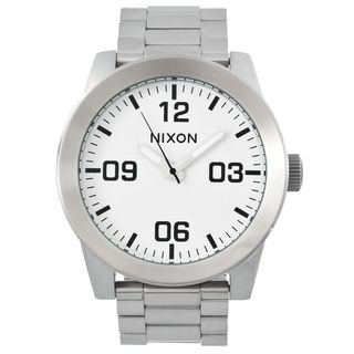Nixon Mens Corporal SS Black/ White Steel Analog Watch