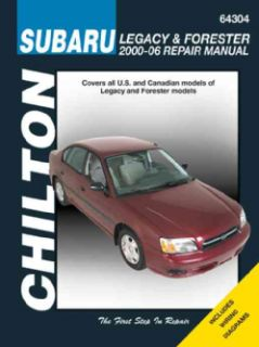 Chiltons Subaru Legacy & Forester 2000 07Repair Manual(Paperback