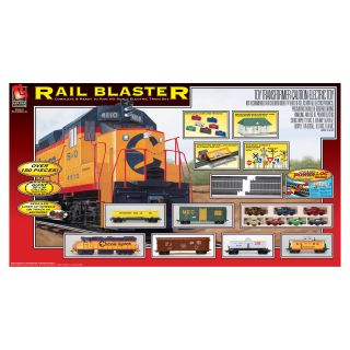 Walthers Lifelike Plastic and Metal Rail Blaster Electric Train Set
