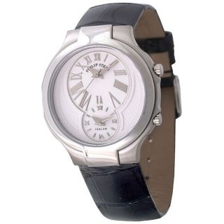 Philip Stein Teslar Round Womens Dual Time Watch