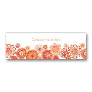 Citrus White Ladies Skinny Business Profile Card Business Card