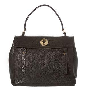 Yves Saint Laurent Muse Two Black Pebbled Leather Satchel Bag
