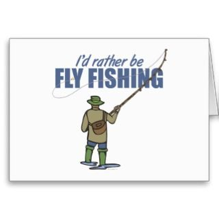 Fly Fishing in Waders Cards