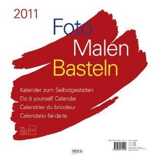 Foto, Malen, Basteln weiß 2011 Kalender zum Selbstgestalten