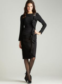 Teri Jon Ruffle Dress