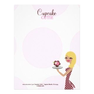 Candie the Cupcake Cutie  Blonde Letterhead Design