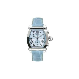 Charriol Womens Lady Jet Set Light Blue Strap Watch
