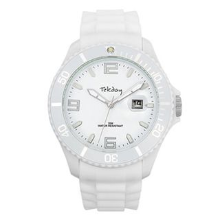 Tekday Womens White Plastic Watch
