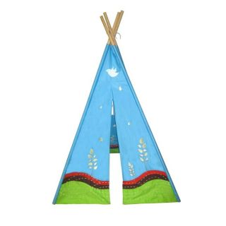 Eco 6 foot Sky and Earth Embroidered Teepee