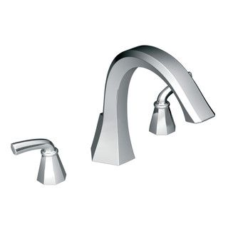 Moen Chrome Two Handle High Arc Roman Tub Faucet