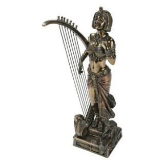 Design Toscano 11 in. The Pharaohs Harpist Egyptian Statue